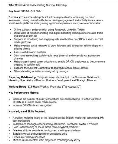 Summer Intern Job Description. We Are Especially Excited That Crs ...