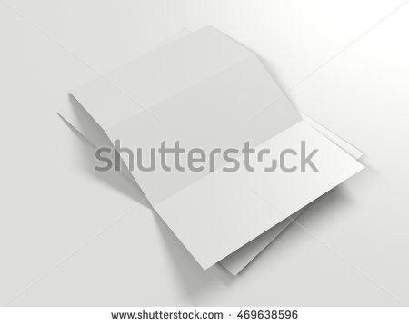 Trifold White Paper Brochure Mockup Template Stock Illustration ...