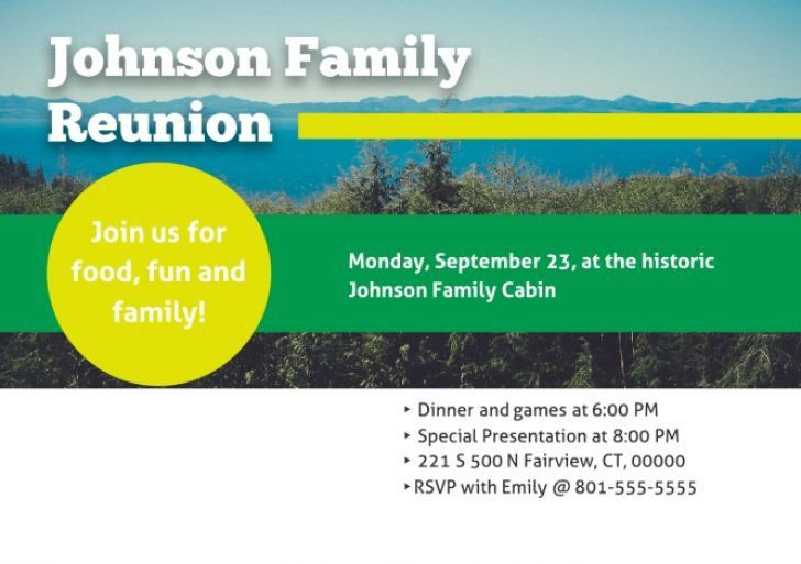 Free Printable Family Reunion InvitationsDownload Free PowerPoint ...