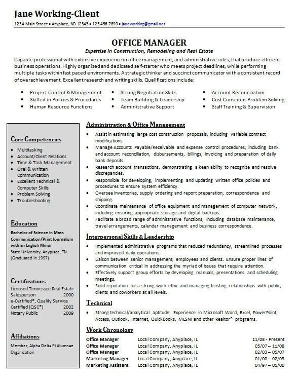 Download Dental Office Manager Resume | haadyaooverbayresort.com
