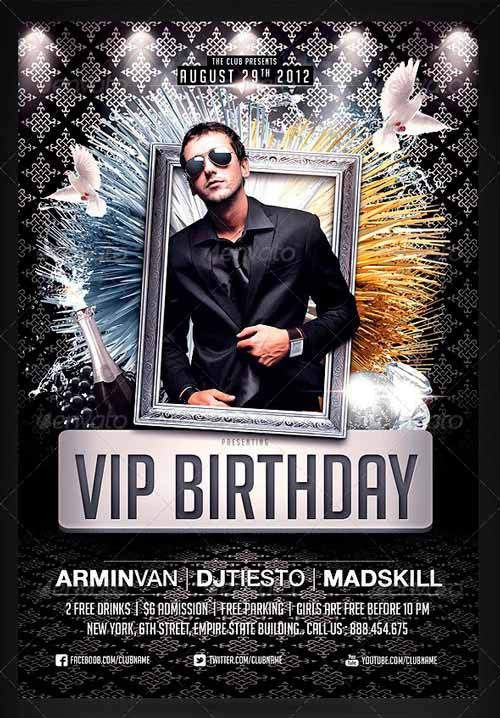 Top 20 Best Birthday Party Flyer Templates