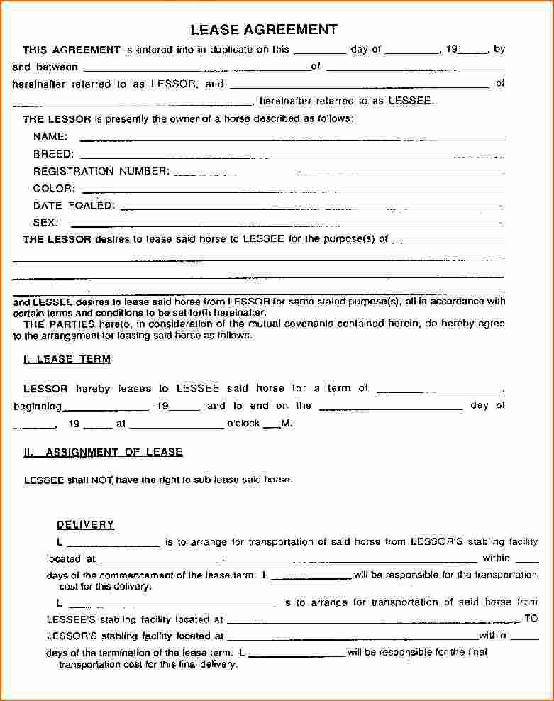 7+ Lease Agreement Forms | Printable Receipt