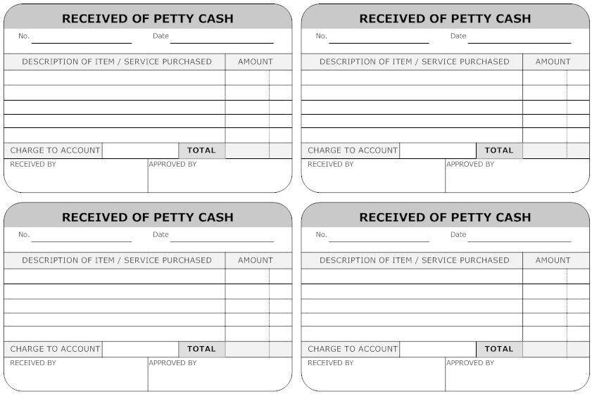 Best Photos of Simple Petty Cash Voucher Form - Petty Cash Form ...