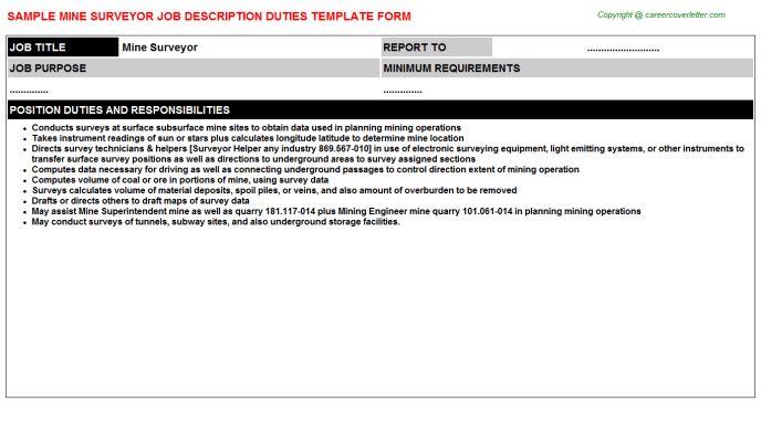 Survey Chainman Job Descriptions