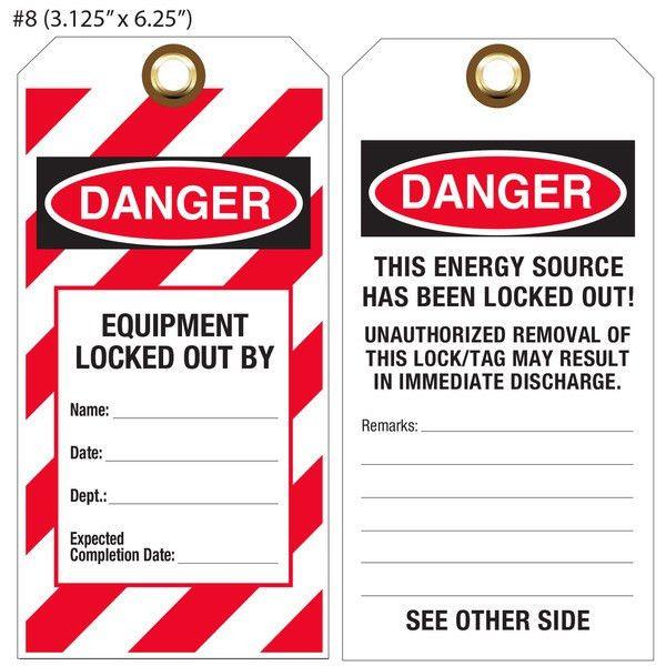 Custom Printed Lockout, Tagout & OSHA Hang Tags | St. Louis Tag