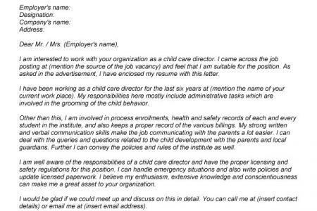Direct care cover letter