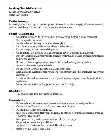 Sample Warehouse Worker Job Description   9+ Examples In Word, PDF