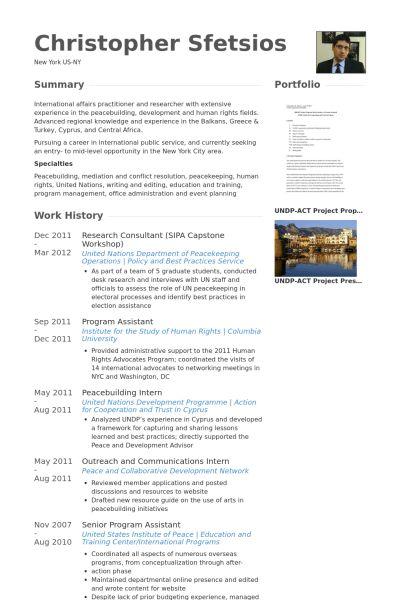 Research Consultant Resume samples - VisualCV resume samples database