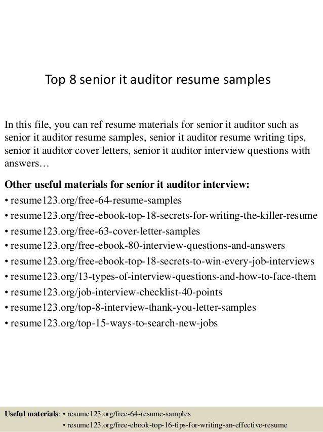 sample audit resumes