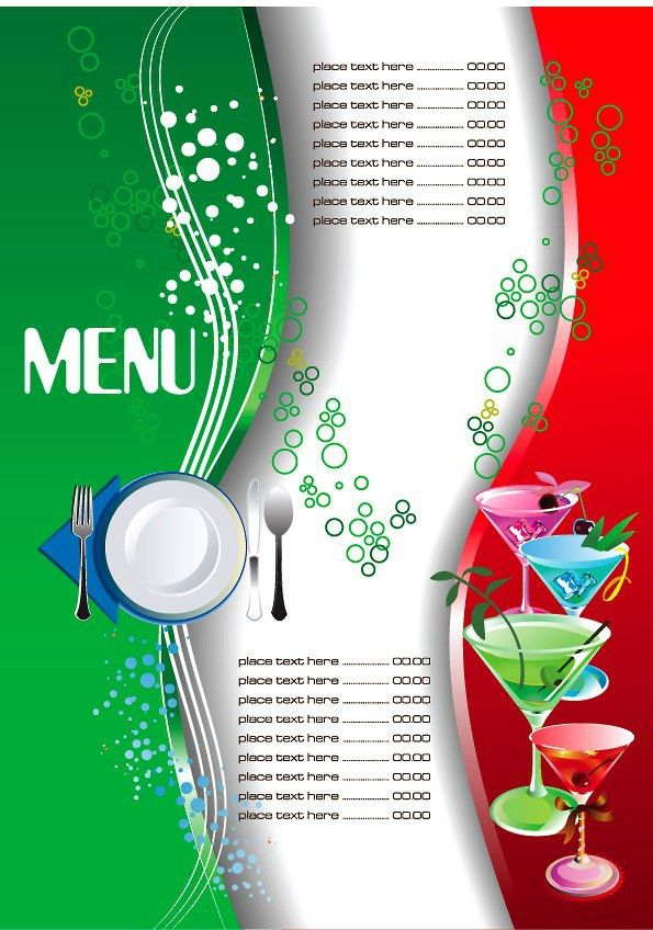 Restaurant Menu Template 3 | PLANTILLAS | Pinterest | Restaurant ...