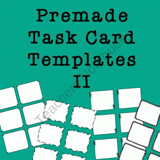 18 best free task card templates images on Pinterest | Card ...