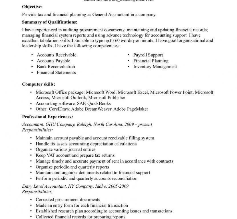 Impressive Inspiration Accounting Resume Skills 14 Job Resume ...