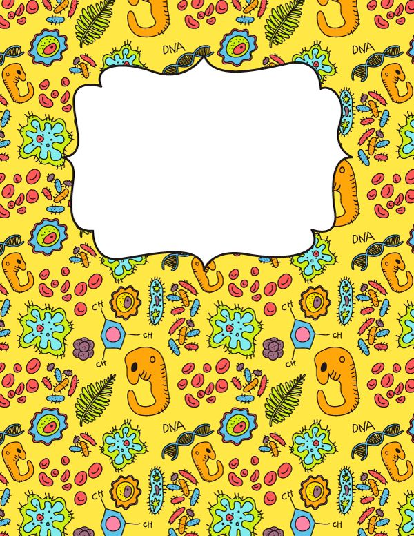 Free printable biology binder cover template. Download the cover ...