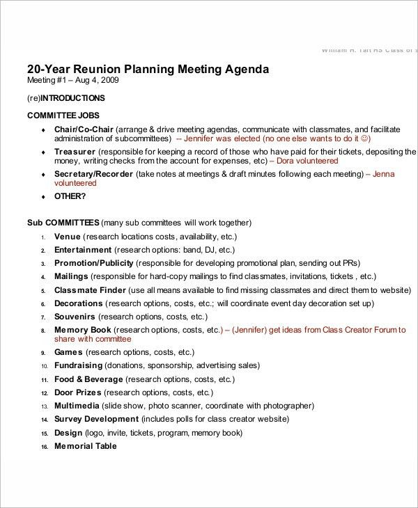 Meeting Program Sample Agenda Program Meeting Sample Classic