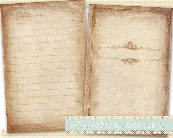 Journal Pages Diary Pages printable paper craft journaling art on ...