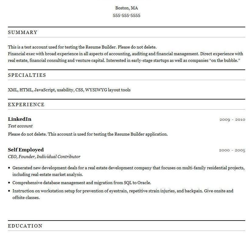 Printable Resume Template - Resume Example