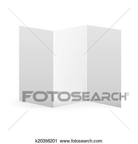 Clipart of Blank vector white tri fold brochure template ...