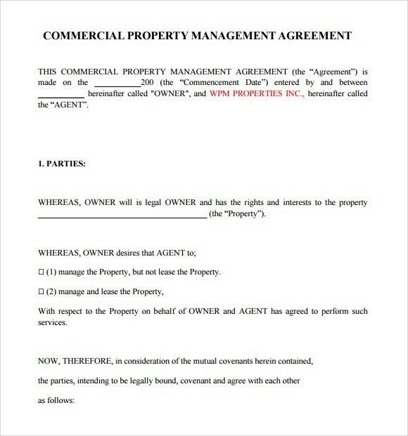 Business Management Agreement Template. free download business ...