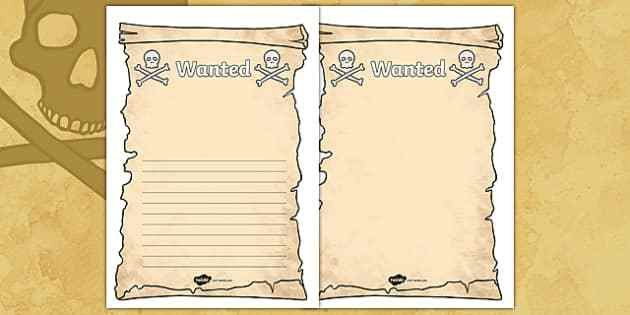 Create Your Own Pirate Wanted Display Poster - Pirate, Pirates