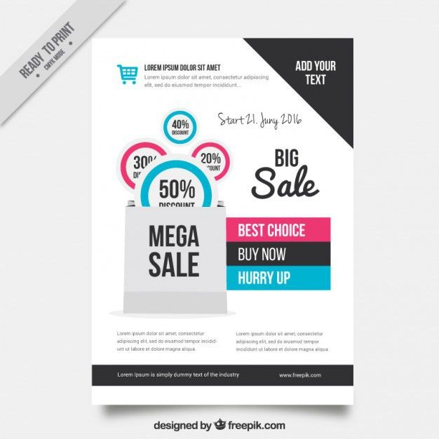 Sale flyer template Vector | Free Download