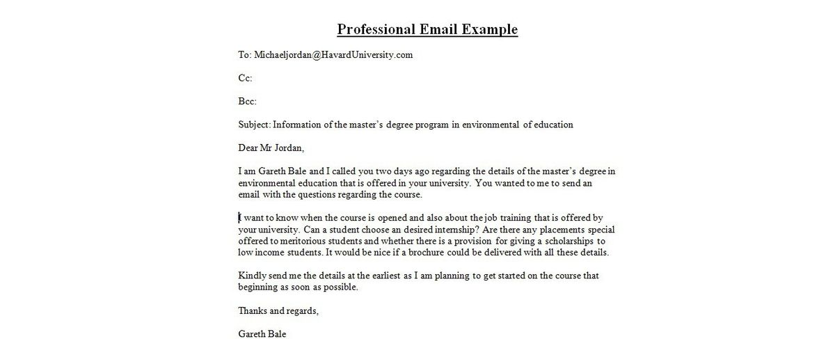 Business E-mails   business letter examples
