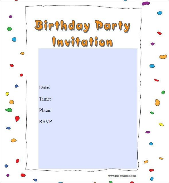 28+ Party Invitation Free Templates | Free Printable Party ...