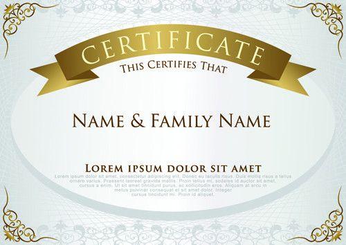 Elegant certificate template vector design 01 - Vector Cover free ...