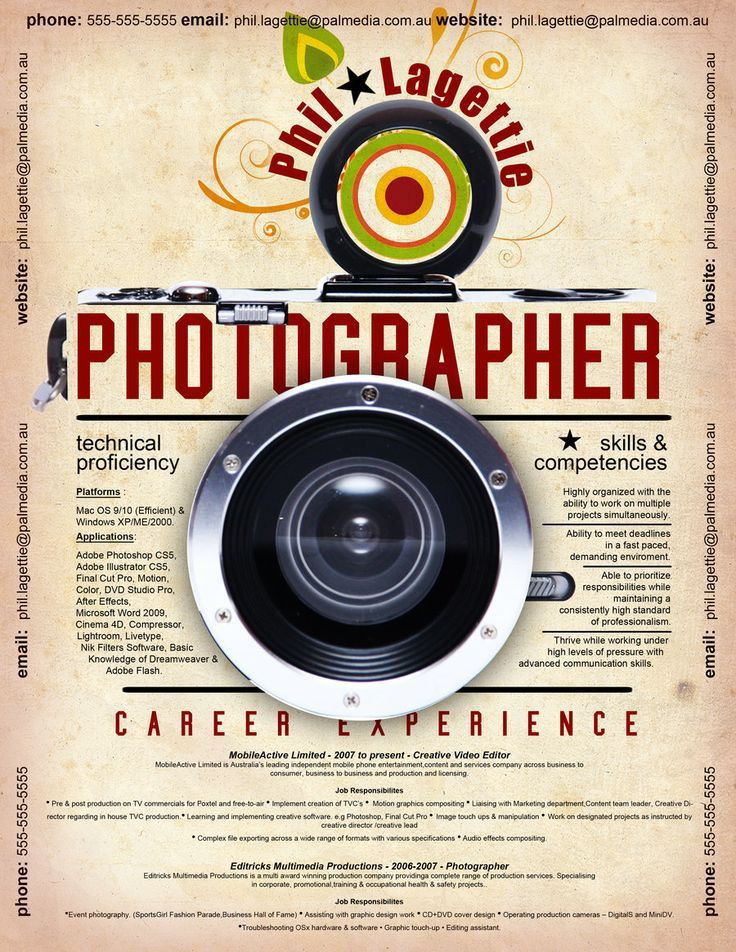 21 best Photographers Resumes images on Pinterest | Creative ...