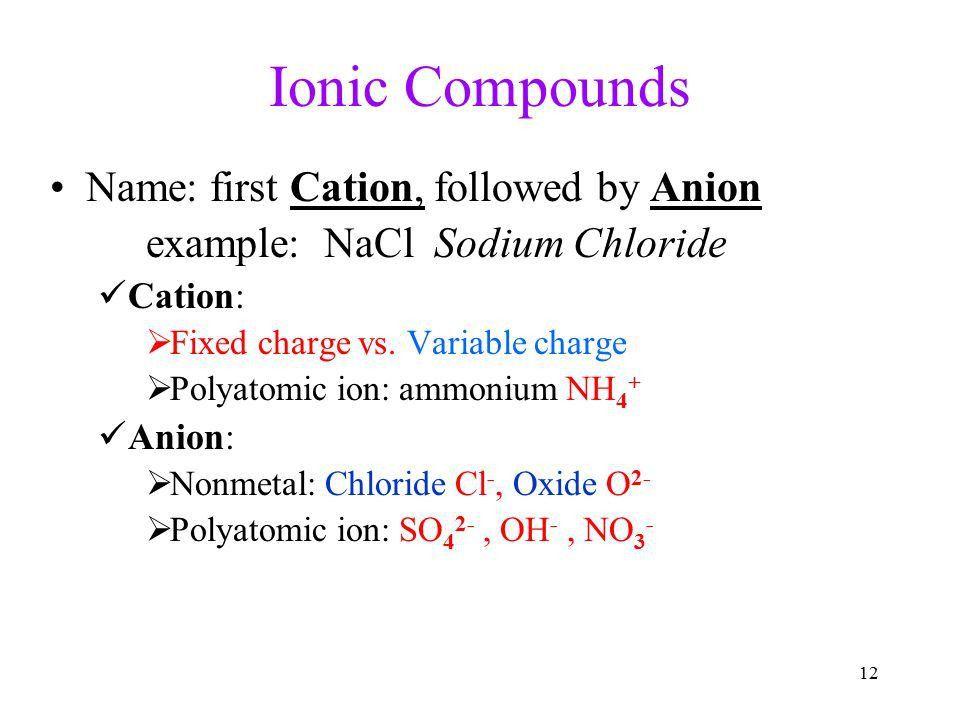 Ionic Compounds: Bonding Nomenclature Edward Wen. - ppt download