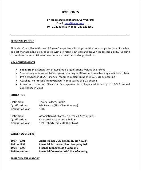 43+ Free Accountant Resume | Free & Premium Templates