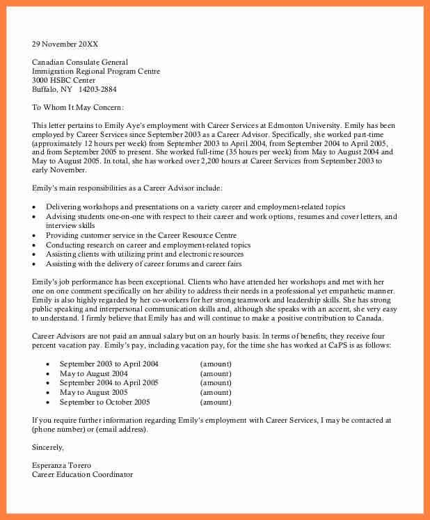 7+ example of recommendation letter for immigration | Life ...