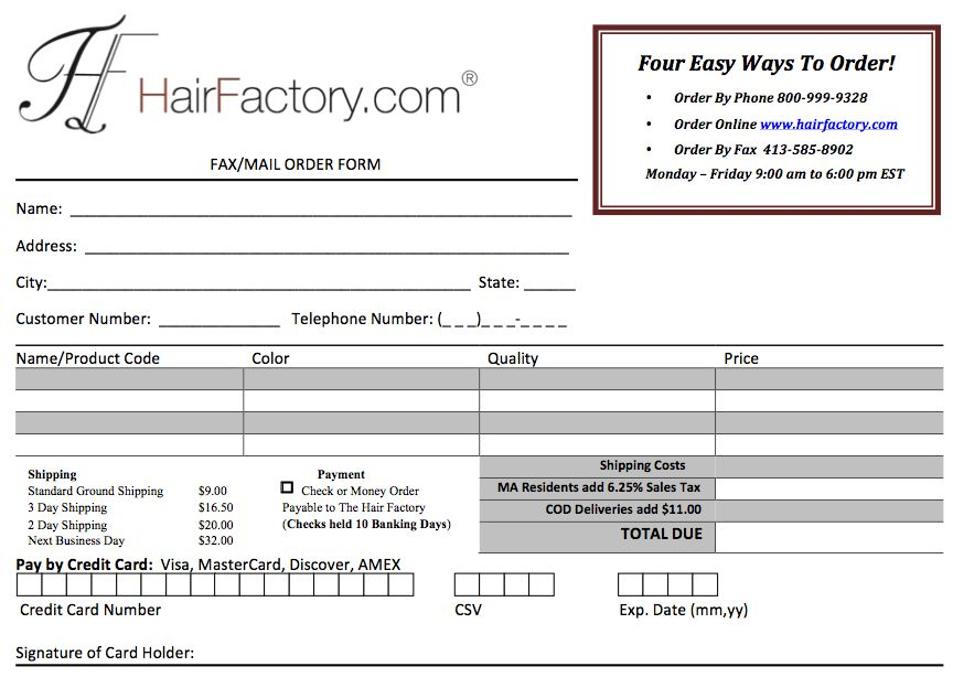 Human Hair Weave Order Information - Hair Weaves - 100% Human Hair ...