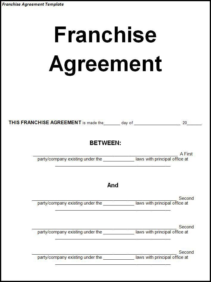 Sample Franchise Agreement Archives - Fine Templates