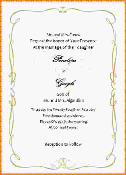 14+ wedding invitation templates word | Letter Template Word