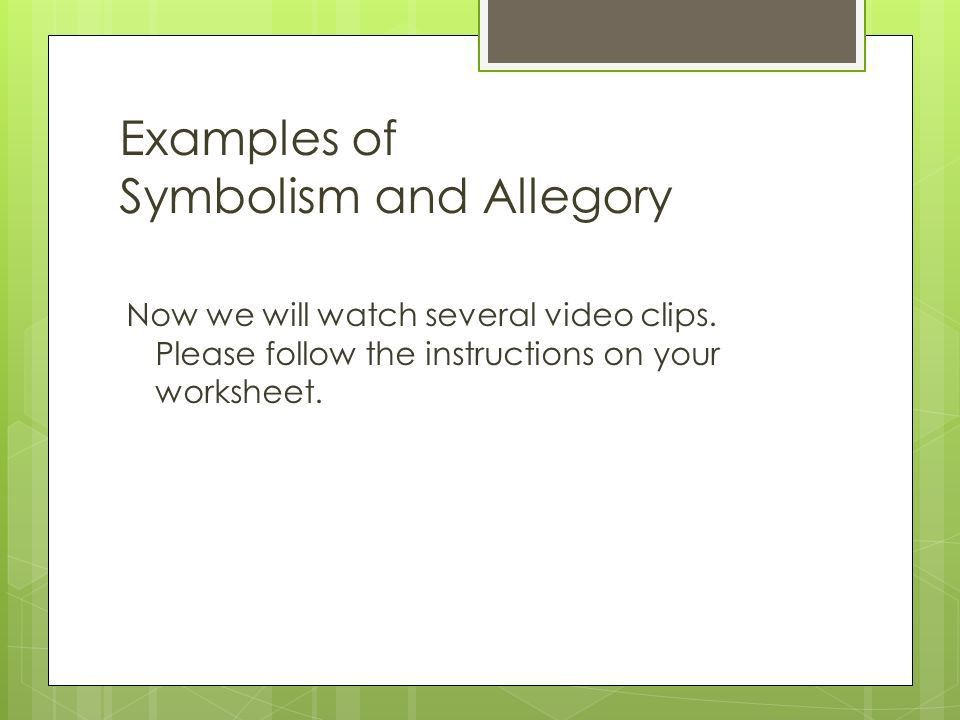 Symbolism and Allegory Layers of Meaning. What Symbols Stand For ...