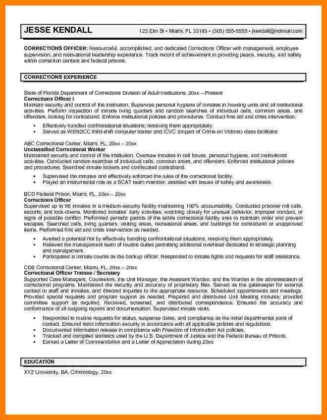 7+ correctional officer resume | billing clerk resume