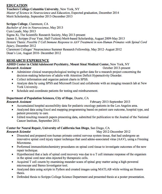 Sample Research Scientist Resume - http://exampleresumecv.org ...