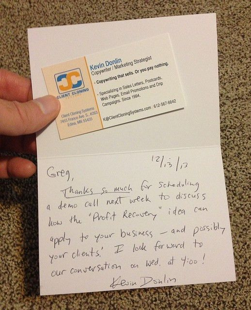 The Blog of Kevin Donlin: The Backwards Thank-You Note: How to ...