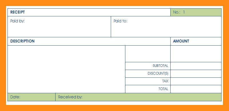 12+ sample of payment receipt | actor resumed