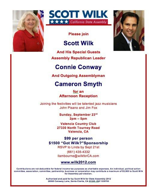 Scott Wilk invitation – Flap's California Blog