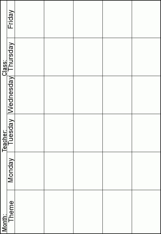 Weekly lesson planner. Instead of theme I can print one out for ...