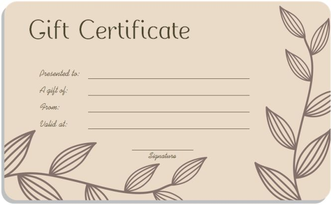 Awesome Online Gift Certificate Template Images - Best Resume ...