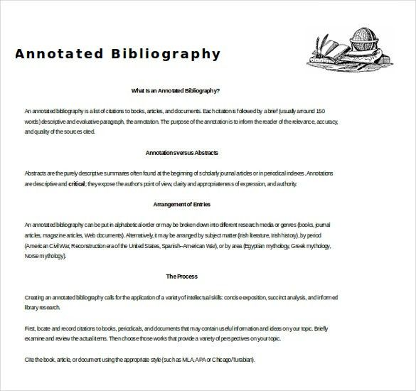 15+ Word Annotated Bibliography Templates Free Download   Free ...