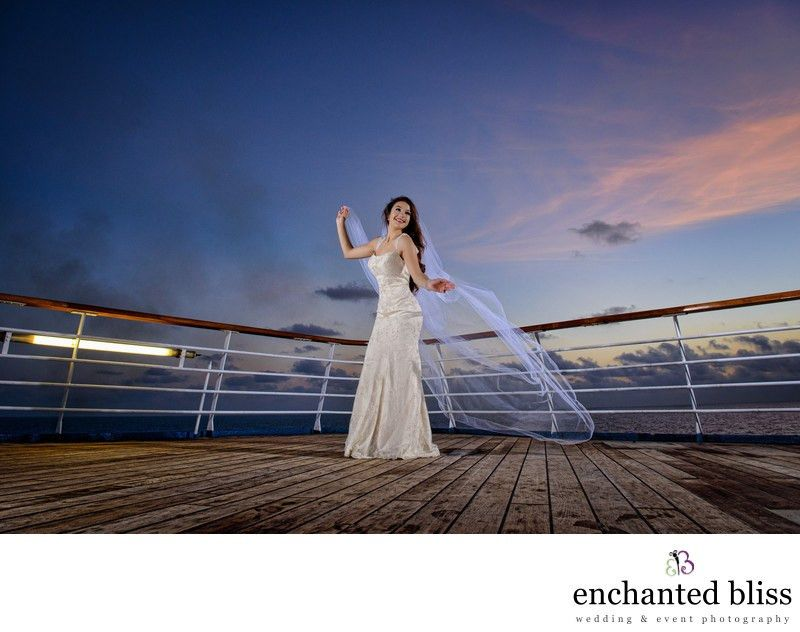 Beach Bride On Cruise Ship in Miami At Sunrise - Pasadena Los ...