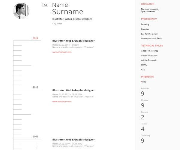 25+ Web Developer Resume Templates - Free Download, PSD, Word