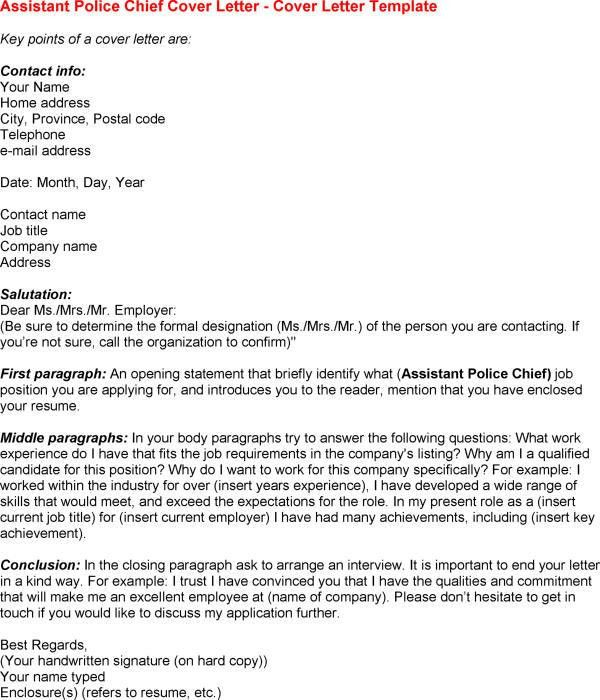 How To Address The Chief Of Police In A Cover Letter | Docoments ...