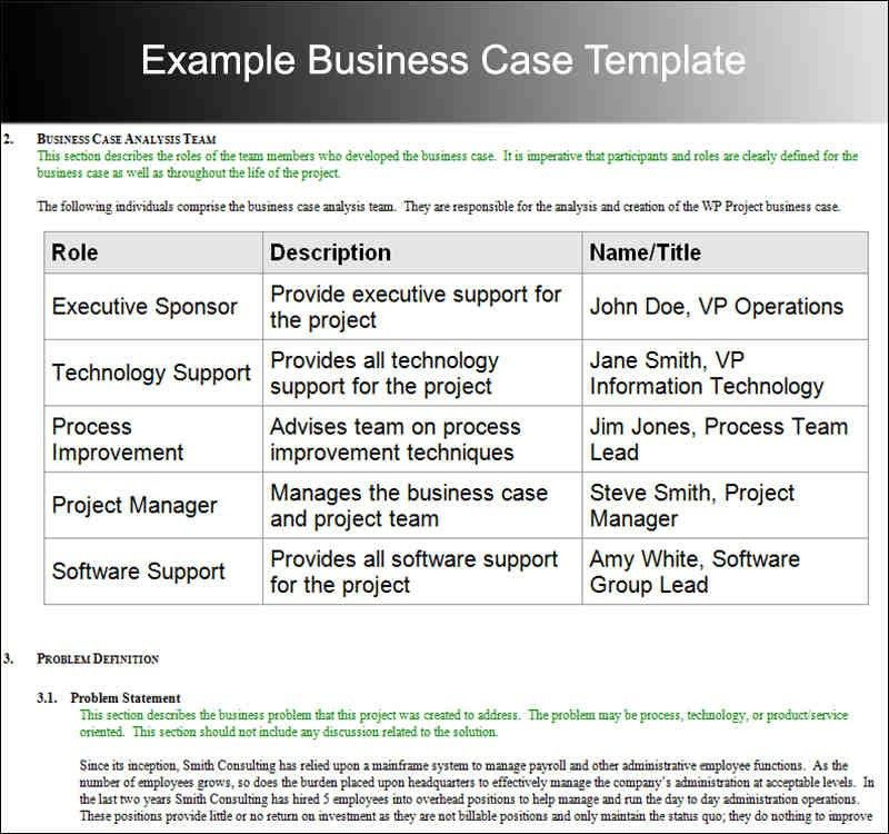 7+ it business case example | a cover letters