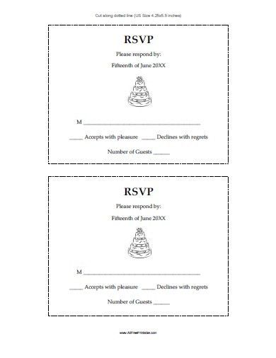 Wedding Response Cards - Free Printable - AllFreePrintable.com