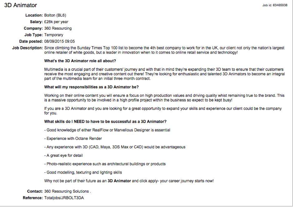 multimedia artist and animator work experience certificate ...