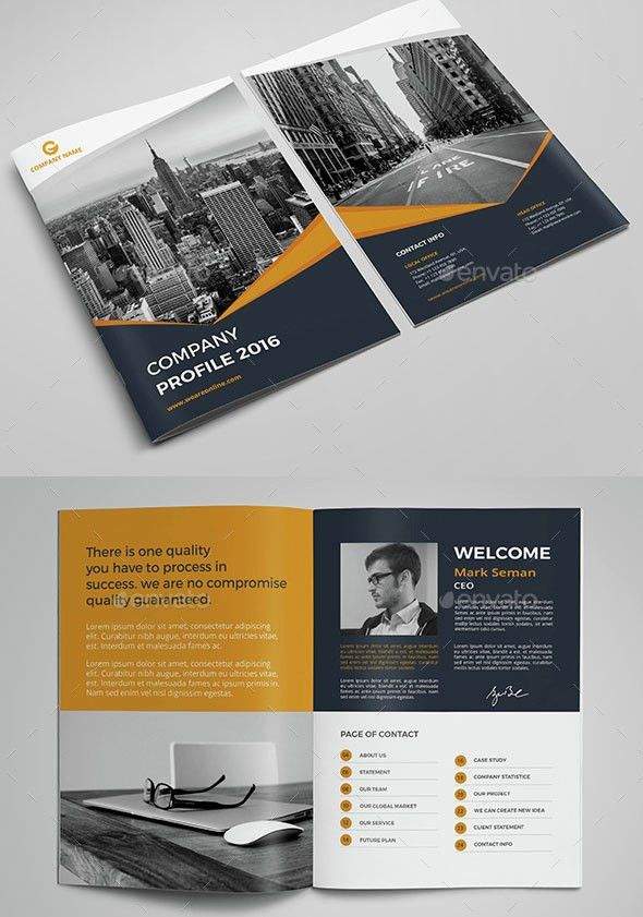 30+ Inspirational Company Profile Design Templates